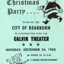 Dearborn Annual Christmas Party for Children - 1962 - at Calvin Theatre